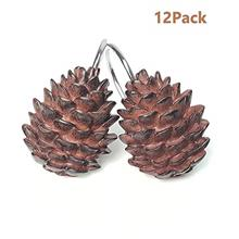 [From USA]SYLOTS Pinecone Shower Curtain Hooks Shower Curtain Hooks Bathroom S