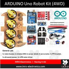 Arduino Uno R3 Tracking  & Obstacle Avoidance Smart Robot Chassis (4WD)