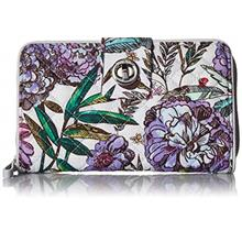 [USA Shipping]Vera Bradley Women's RFID Turnlock Wallet-Signature (Lavender Me