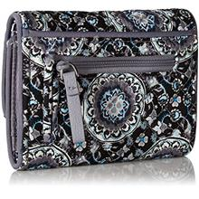 [USA Shipping]Vera Bradley Women's RFID Riley Compact Wallet-Signature (Charco