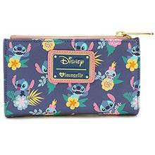[USA Shipping]Loungefly Disney's Stitch And Scrump Floral Bi-Fold Wallet