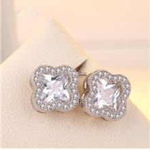 Clover Crystal Stud Earrings