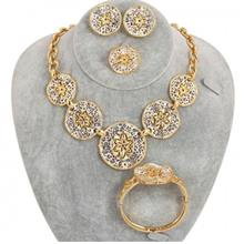 Gold Plated Petal Shaped Jewellery Set