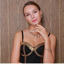 Classic Alloy Gold-Plated African Elegant Jewelry Set