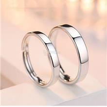 Contemporary Style 925 Silver Couple Engagement Rings