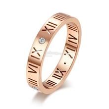High Polished Roman Numeral Band Ring