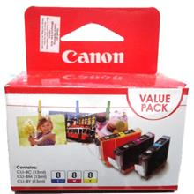 GENUINE CANON CLI-8 (C/M/Y) COMBO VALUE PACK INK CARTRIDGE