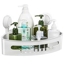 [From USA]Corner Shower Caddy Suction Cup Plastic Shower Holder for Shampoo So