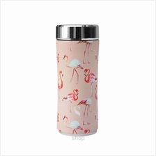 SWANZ 360ml Flamingo Crown Collection Porcelain Tumbler (With Strainer) - SY-0