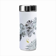 SWANZ 360ml Orchid Crown Collection Porcelain Tumbler (With Strainer) - SY-025