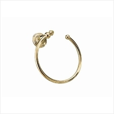 [From USA]Delta Faucet 75046-PB Victorian Towel Ring Polished Brass