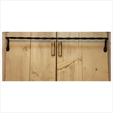[From USA]Wrought Iron Towel Bar - 24 Inch -Twisted Hand Made