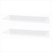 [From USA]Jusalpha 17 Inch Contemporary Clear Acrylic Floating Shelves - Wall