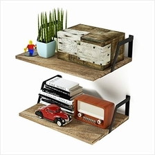 [From USA]SRIWATANA Floating Shelves Wall Mounted Set of 2 Rustic Wood Shelves