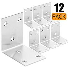 [From USA]12 Pack Stainless Steel 90 Degree Angle L Shaped BracketCorner Brace