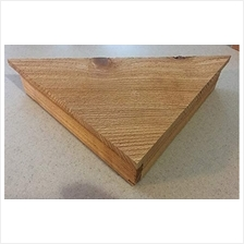 [From USA]1 Pair of Handmade Cedar Corner Shelves in Natural Finish - Rustic F