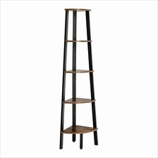 [From USA]Benjara Five Tier Ladder Style Wooden Corner Shelf