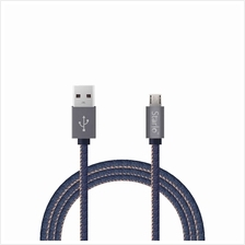 STARLO JEANS DENIM MICRO USB LIGHTNING DATA CABLE