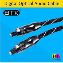 EMK Nylon Net Toslink Digital Optical Audio Cable (2 Meter/3 Meter)