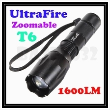 Zoomable Ultrafire T6 Led Flashlight Torchlight 7-Mode Torch 1299.1