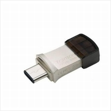 TRANSCEND JETFLASH JF890S OTG FLASH DRIVE USB3.1 (16GB/32GB/64GB) SILVER