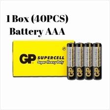 [100% GP Malaysia]GP Supercell AAA Battery Carbon Zinc-40pcs
