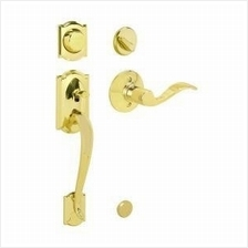 [From USA]Schlage F62PLY505ACC605LH Plymouth Handleset Keyed 2-Sides with Acce