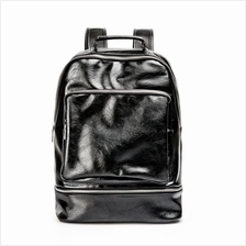 Casual Leather Backpack Laptop Bag Light Weight Waterproof Travel Bag