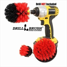 [USA Shipping]Drill Power Heavy Duty Stiff Bristle Scrub Brush Cleaning Kit (S