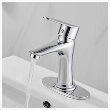 [From USA]Modern Bathroom Faucet Chrome Single Handle Bathroom Vanity Single H
