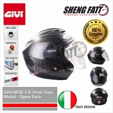 GIVI M30.3 D-Visor Gun Metal - Open Face Helmet Motorcycle [ORIGINAL])