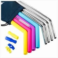[USA Shipping]Stainless Steel Straws Set of 84PCS Extra Wide Metal Straws  &am