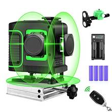 [From USA]Seesii 3x360° Rotary Laser Level Self Leveling Green Beam Three Pla