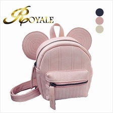 ROYALE Disney Minnie Mickey Mouse Ears Mini Swirl Backpack - 3 Colors