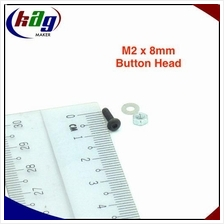10 pcs M2 x 8mm Hex Socket Button Head(Screw, nut and washer)