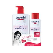 EUCERIN pH5 Wash Lotion For Body And Face 1L 200ml
