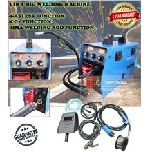 3 in 1 Gasless Mig Welding Machine Gaslss,Co2,MMA Function Double Digi