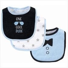 Hudson Baby Drooler Terry Bibs (3 pcs) (One Cool Dude) 56214CH - 20%