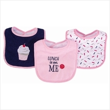 Hudson Baby Drooler Terry Bibs (3 pcs) (Lunch is on me) 56216CH - 20%