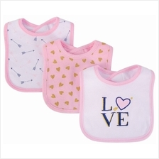 Hudson Baby Drooler Terry Bibs (3 pcs) (Love) 56212CH - 20% OFF!!