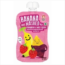 Apple Monkey: Banana Sauce Mashed with Strawberry  & Sweet Potato 100g