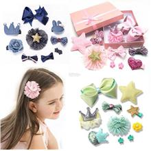 Kids Baby Girl-KOREA-Hair Accessories-Gift Box-Cute Lovely-Clip Decal