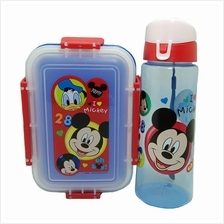 DISNEY MICKEY MOUSE LUNCH BOX WITH WATER BOTTLE SET