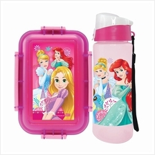 DISNEY PRINCESS LUNCH BOX WITH WATER BOTTLE SET