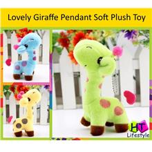 Lovely Cute Kids Child Giraffe Pendant Soft Plush Toy