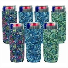 [USA Shipping]Neoprene Slim Can Sleeves - Pack of 7 Paisley coolies - Fit 12 o