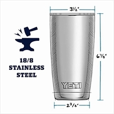 [USA Shipping]YETI Rambler 20 oz Stainless Steel Vacuum Insulated Tumbler w/Ma