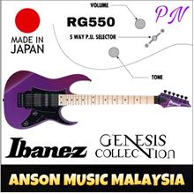 Ibanez RG550 Genesis Collection Electric Guitar, Purple Neon