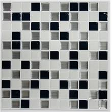 [From USA]RoomMates StickTILES Black  & White Mosaic Peel and Stick Backsp