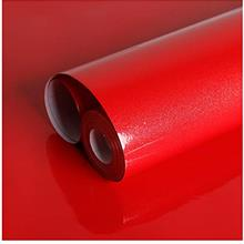 [From USA]VEELIKE 15.74 × 118.11inches Red Wallpaper Peel and Stick Removable